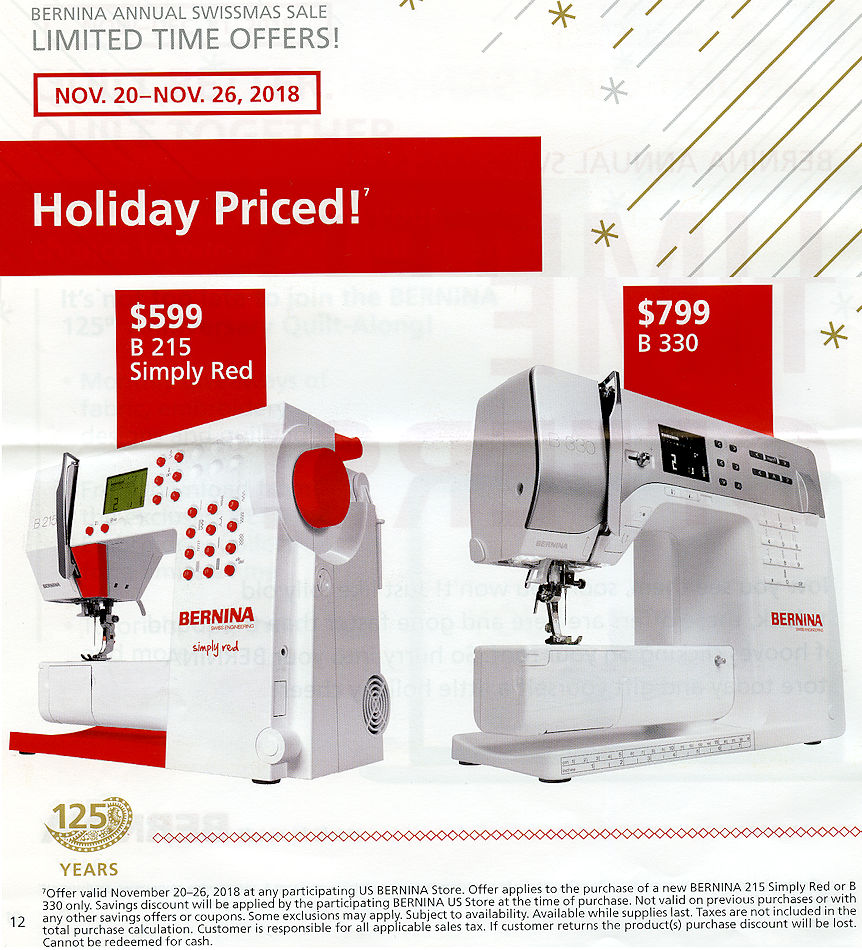 Home Page Bernina World Of Sewing Raleigh Nc Machines Fabric 830 Machine Threading Diagram Psst December 5 Thru 10 2018 60 Mths 3000 Or More Using Credit Card